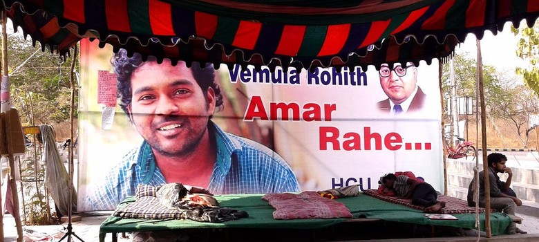 Hyderabad University suspends two professors who marched for justice for Rohith Vemula