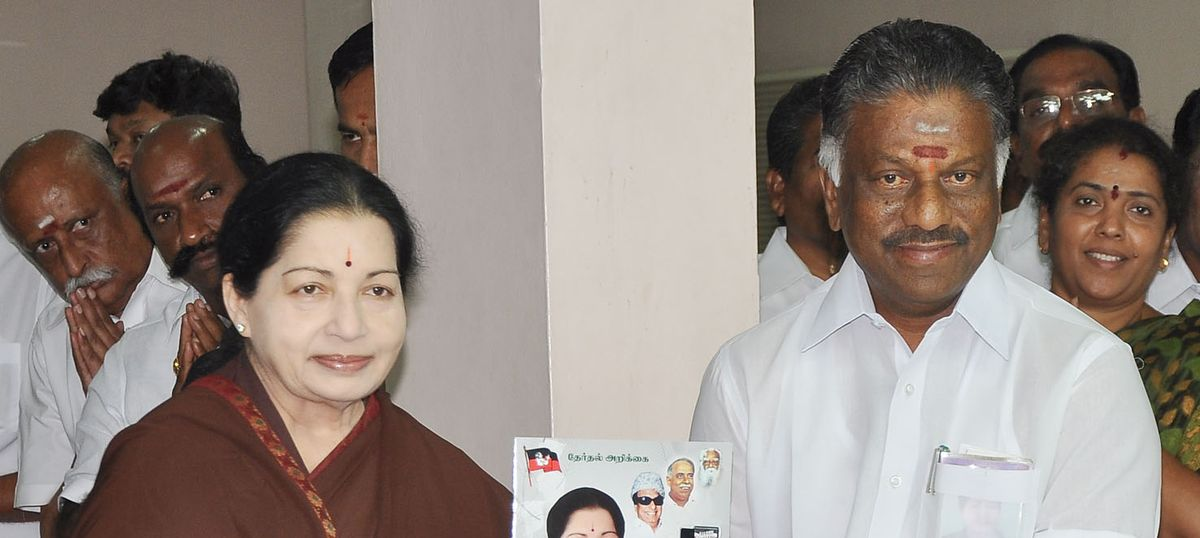 Tamil Nadu: Jayalalithaa's portfolios handed over to Finance Minister O Panneerselvam