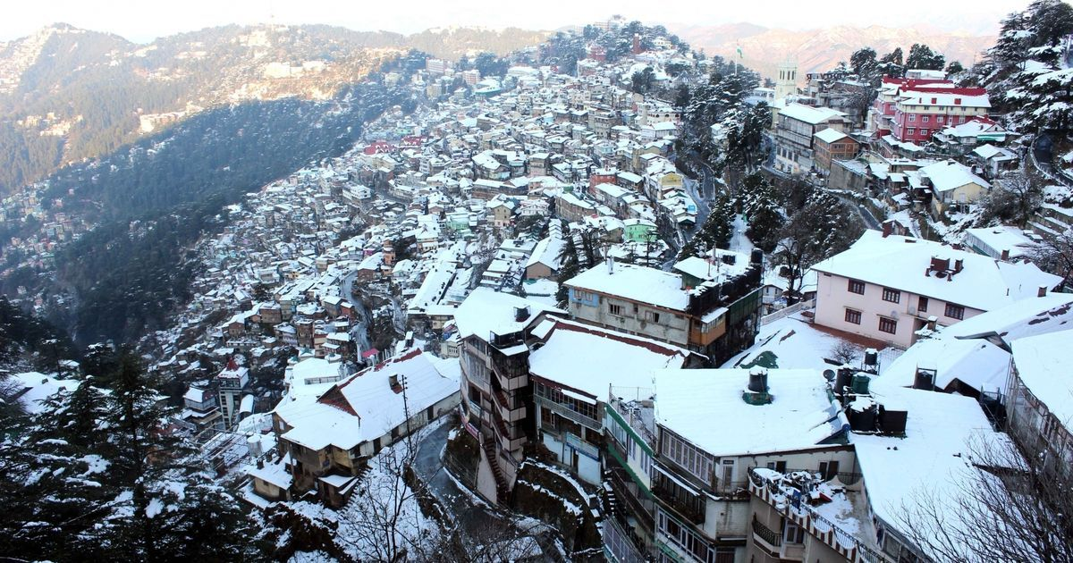 Shimla gets a white Christmas after it snows for the first time in over two decades