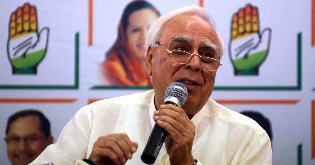 Scrap sedition law, it's a colonial hangover, says Congress leader Kapil Sibal