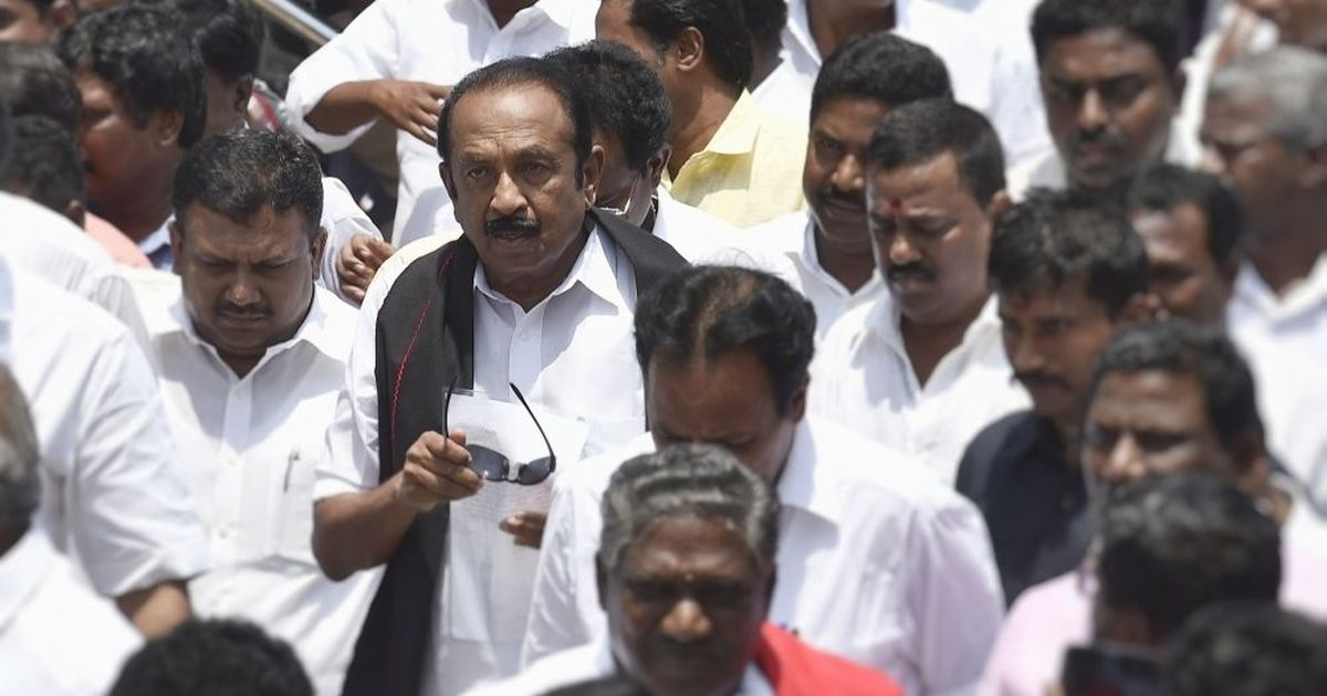 MDMK chief Vaiko denied entry in Malaysia over LTTE connect