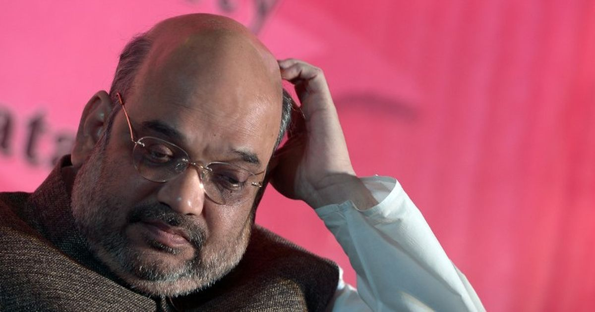 UP Polls: BJP president Amit Shah road show in Allahabad