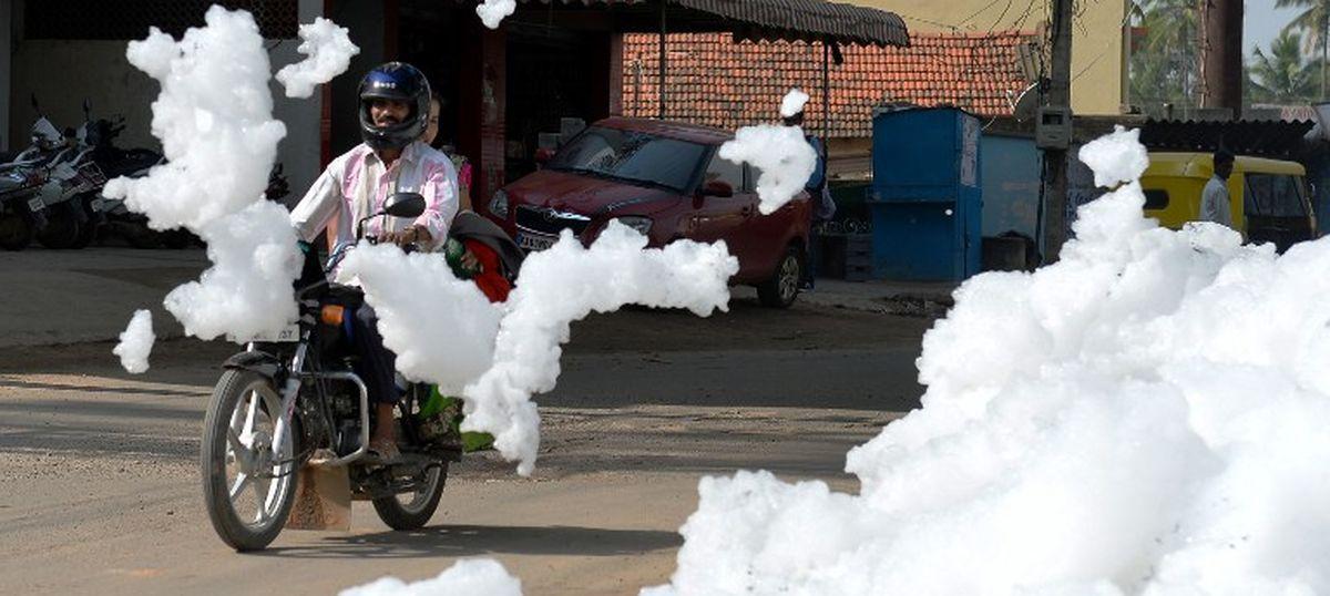 Bengaluru: Residents demand action as toxic froth rises in Varthur, Bellandur lakes again