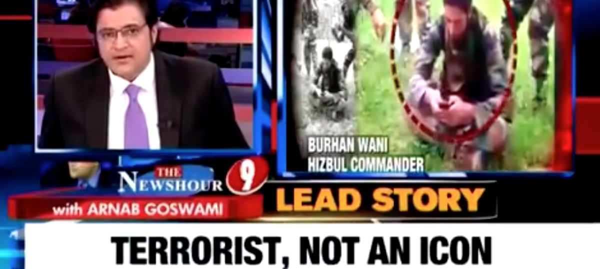 How exactly does the Indian media define a terrorist?