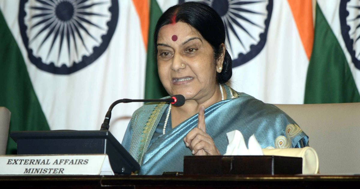 We did not sign the Paris accord for money, Sushma Swaraj says while rejecting Trump's claims