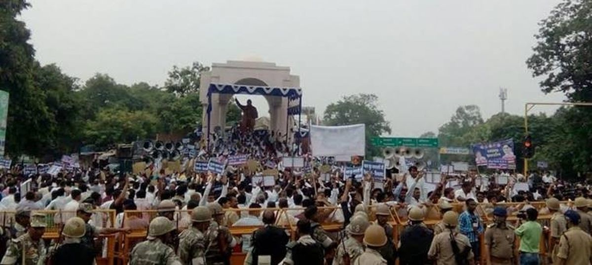 BSP workers call off protest over suspended BJP leader's derogatory remark against Mayawati