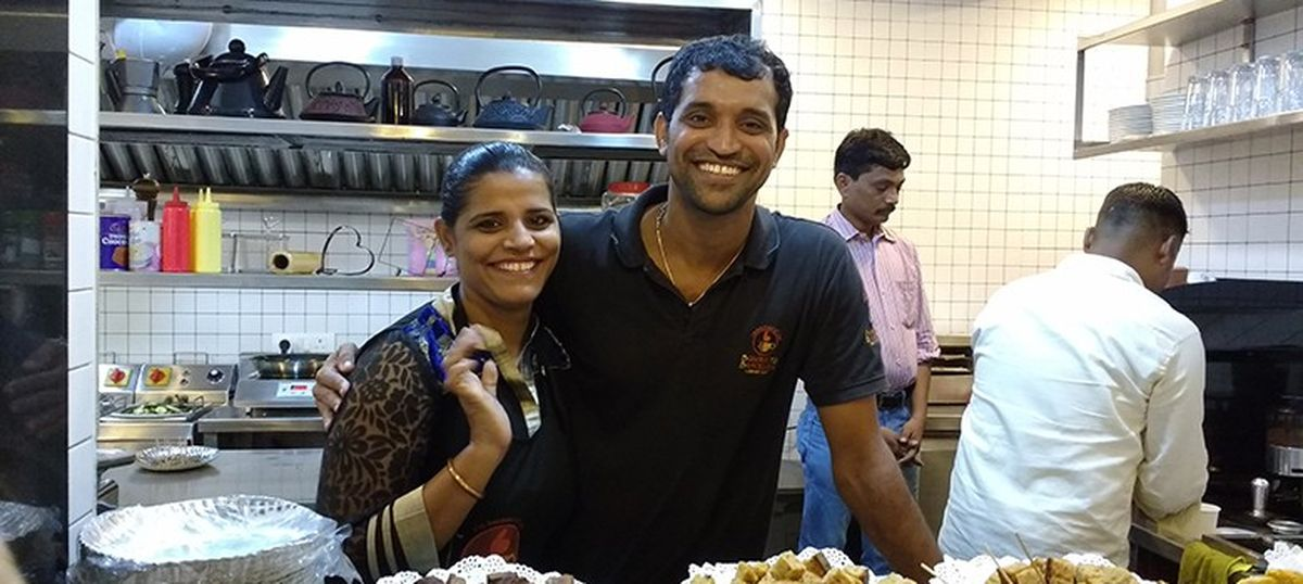 A former Mumbai street child has beaten all odds to open the café of his dreams