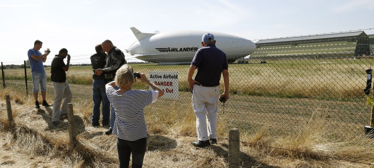World's largest aircraft, Airlander 10, crash lands during second test flight in England