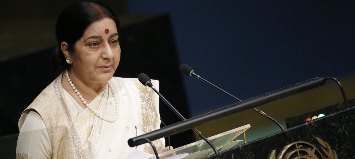 Safety of Indians a priority over partnership with the US: Sushma Swaraj tells Rajya Sabha