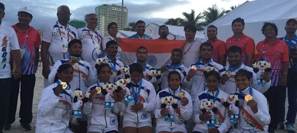 Indian women's kabaddi team wins gold medal at Asian Beach Games