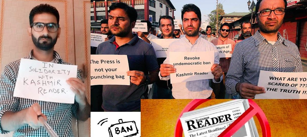 #Mediagag in Kashmir: Journalists unite to protest the ban on Kashmir Reader