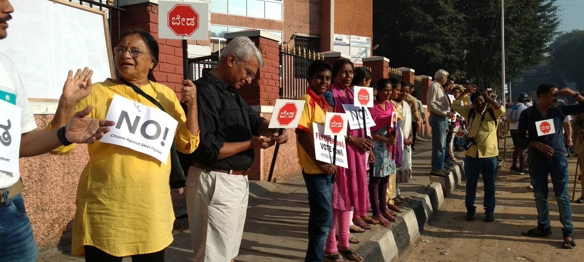 #SteelFlyoverBeda: Bengaluru citizens take to the street to protest a destructive project