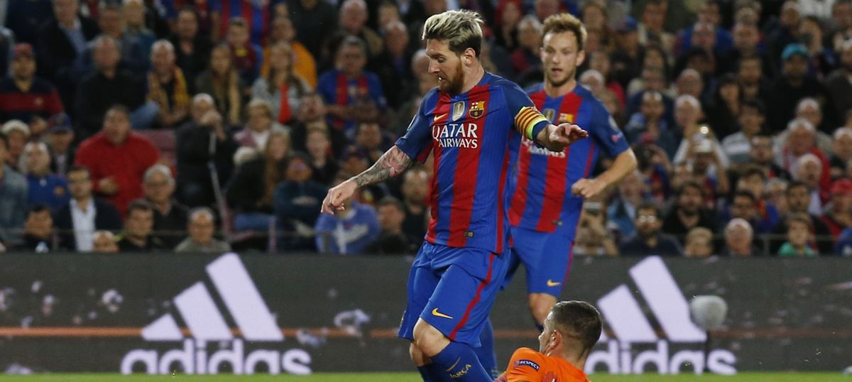690595113f0 Champions League  Lionel Messi hits a hat-trick as Barcelona thrash Manchester  City 4-0