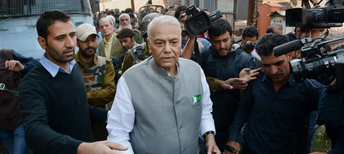 Kashmir unrest: Yashwant Sinha, four others meet separatist leader Syed Ali Shah Geelani