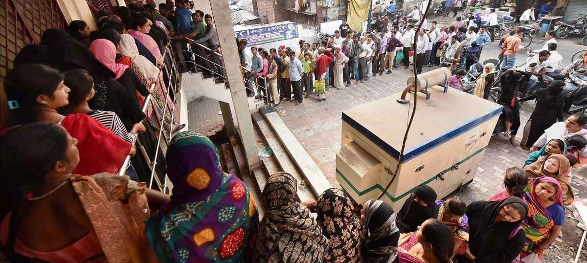 As queues lengthen and banks run out of cash, the danger is of India losing patience