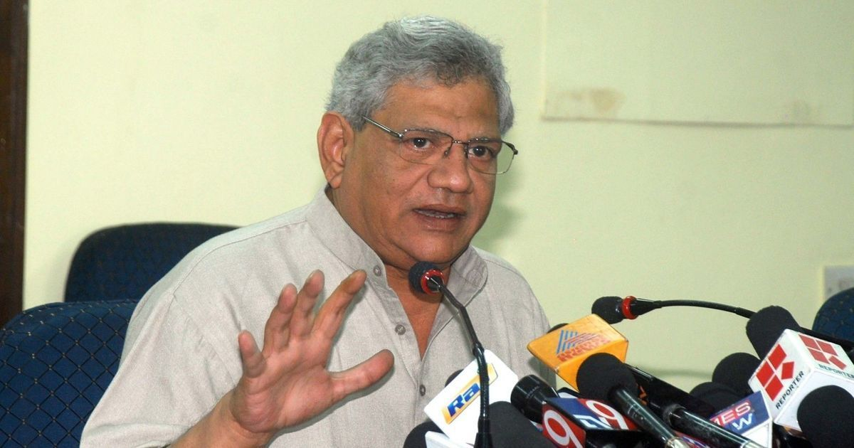 Two Hindu Sena members arrested for manhandling Sitaram Yechury
