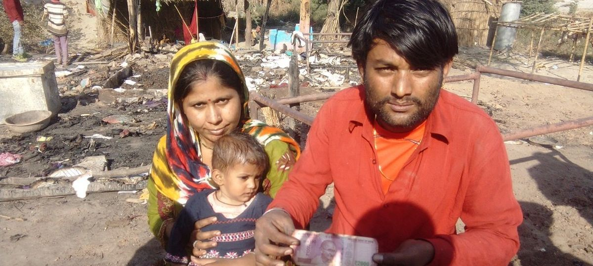 As fire breaks out at Delhi camp for Pakistani Hindu refugees, cash savings turn to ash