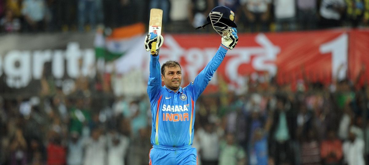 Virender Sehwag hit his highest score in ODIs | Image Source: BCCI