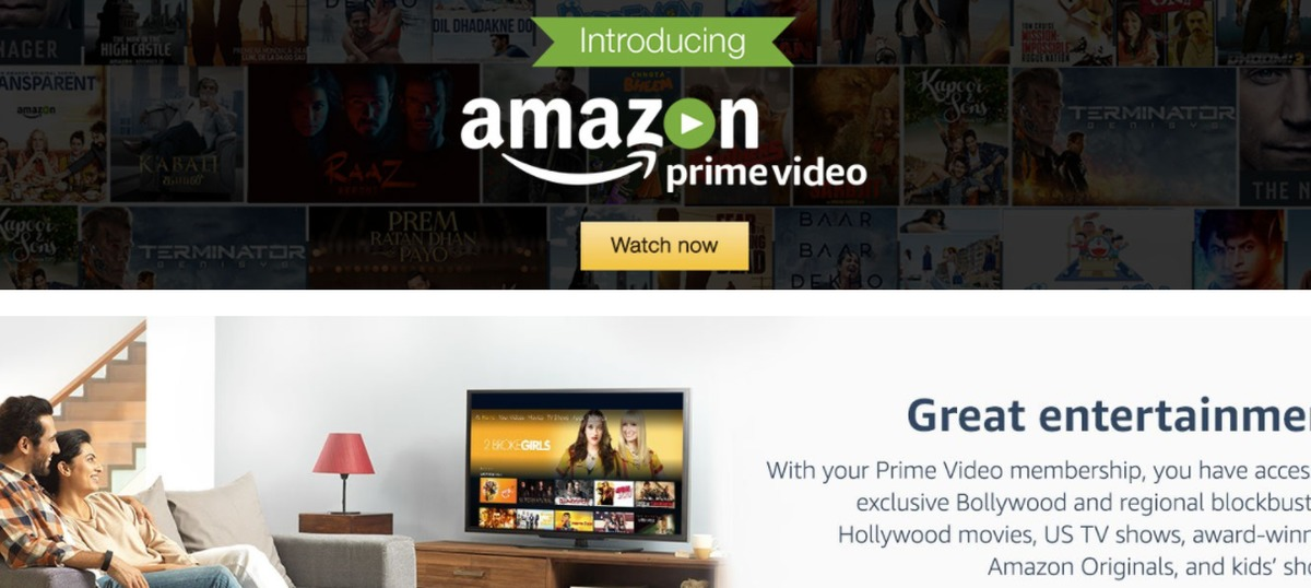 Amazon Prime launches its video streaming service in India at Rs 499 a year