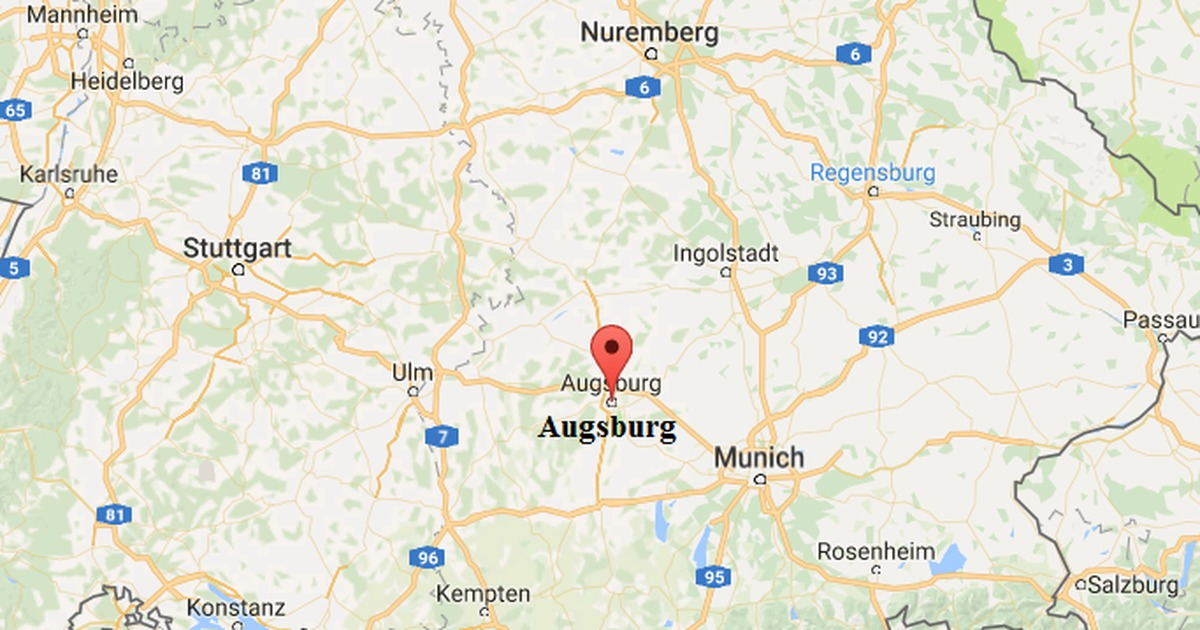 Augsburg Germany Map Cluber