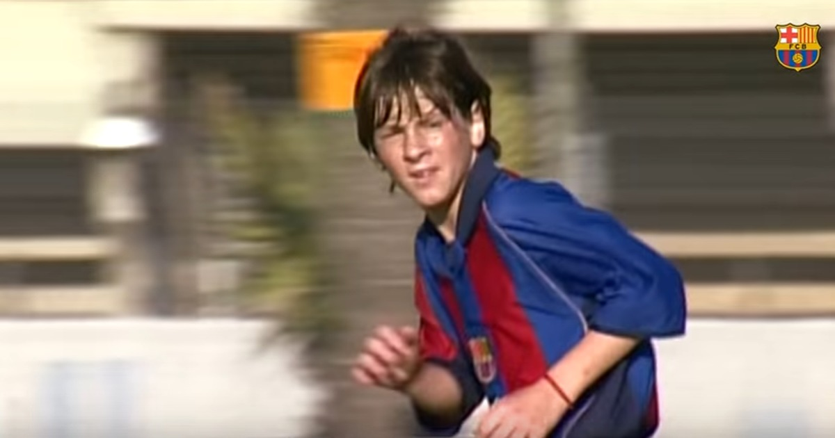 2f15a839f83cef Watch Lionel Messi show off his skills as a young prodigy at Barcelona's La  Masia academy