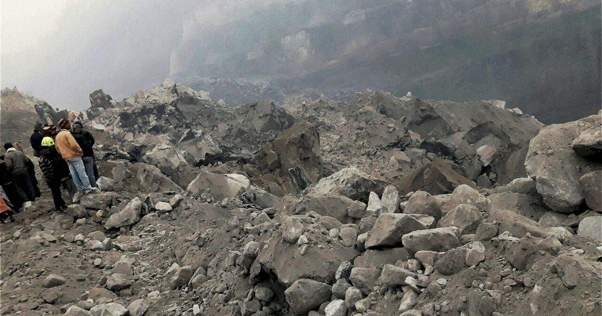 Coal mine collapses in Jharkhand's Lalmatia, 40 workers feared trapped under debris