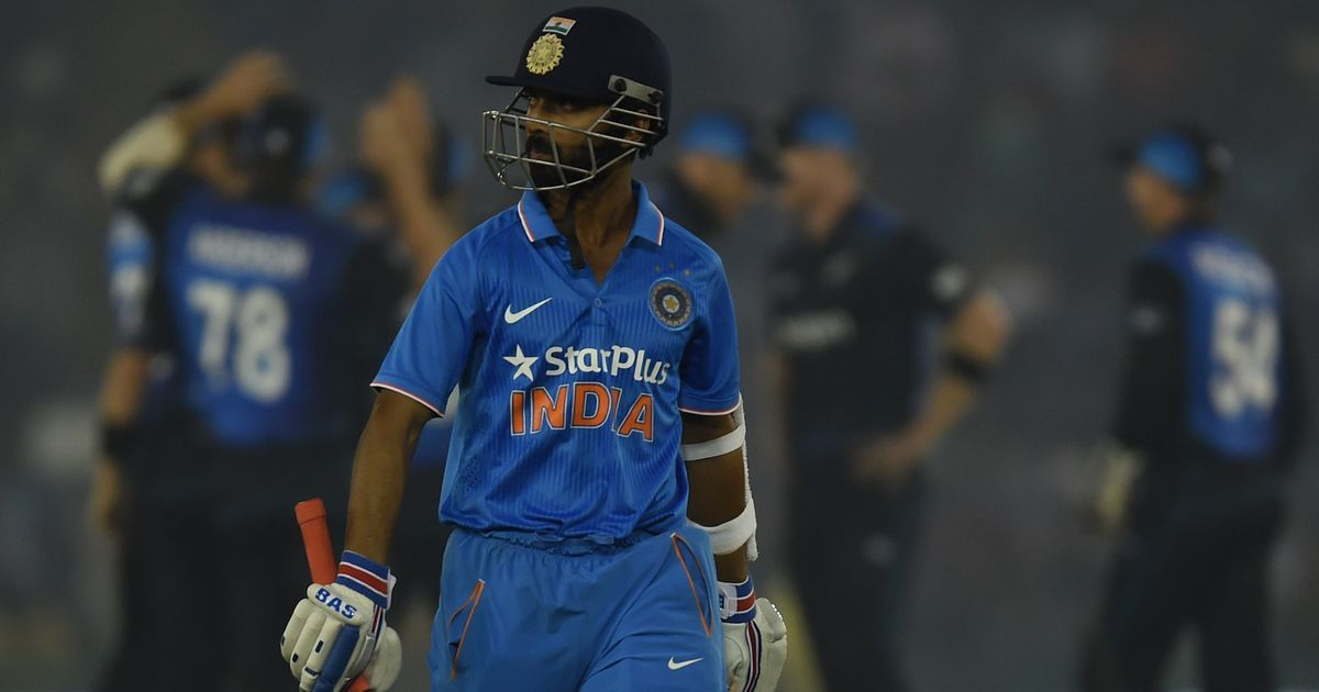 The numbers are in and it's looking bleak for Ajinkya Rahane's future as an ODI batsman