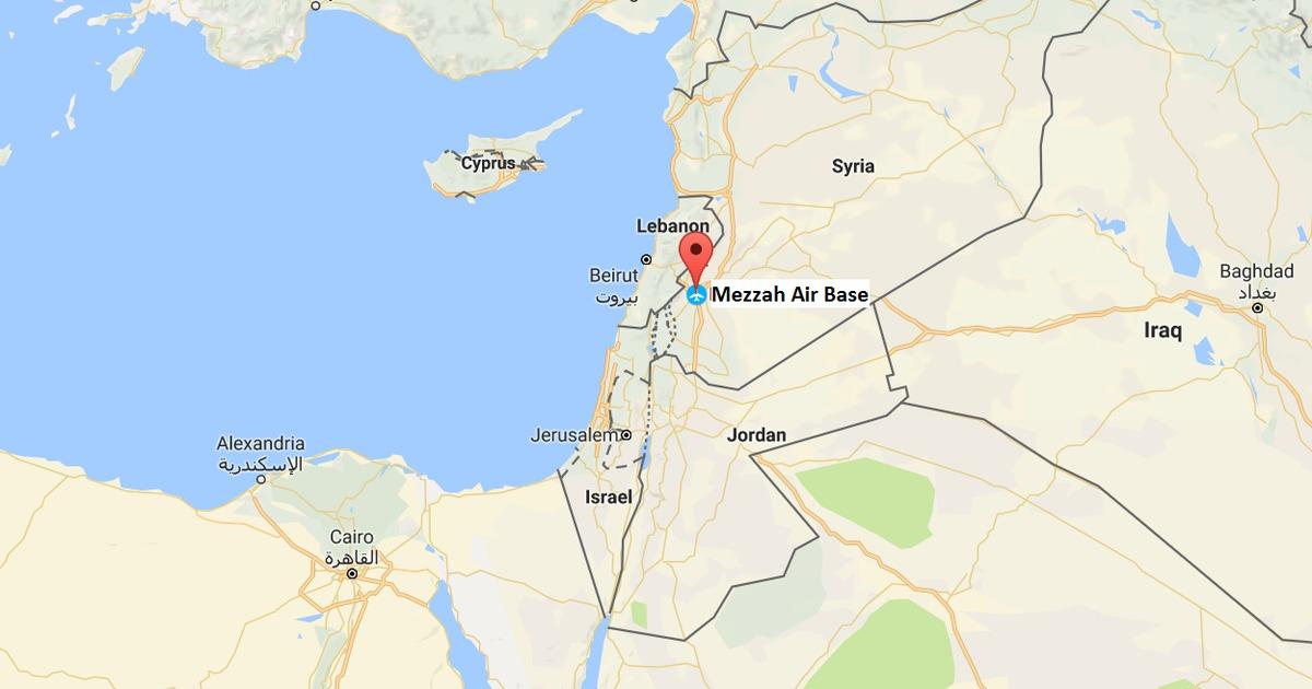 Syria accuses Israel of arding its military airport near ... on tyre map, beirut on a map, sanaa map, persia map, jordan map, constantinople map, aleppo map, euphrates river map, medina map, syria map, canaan map, mecca map, ankara map, sinai peninsula map, iraq map, muscat map, amman map, jerusalem map, libya map, belgrade map,