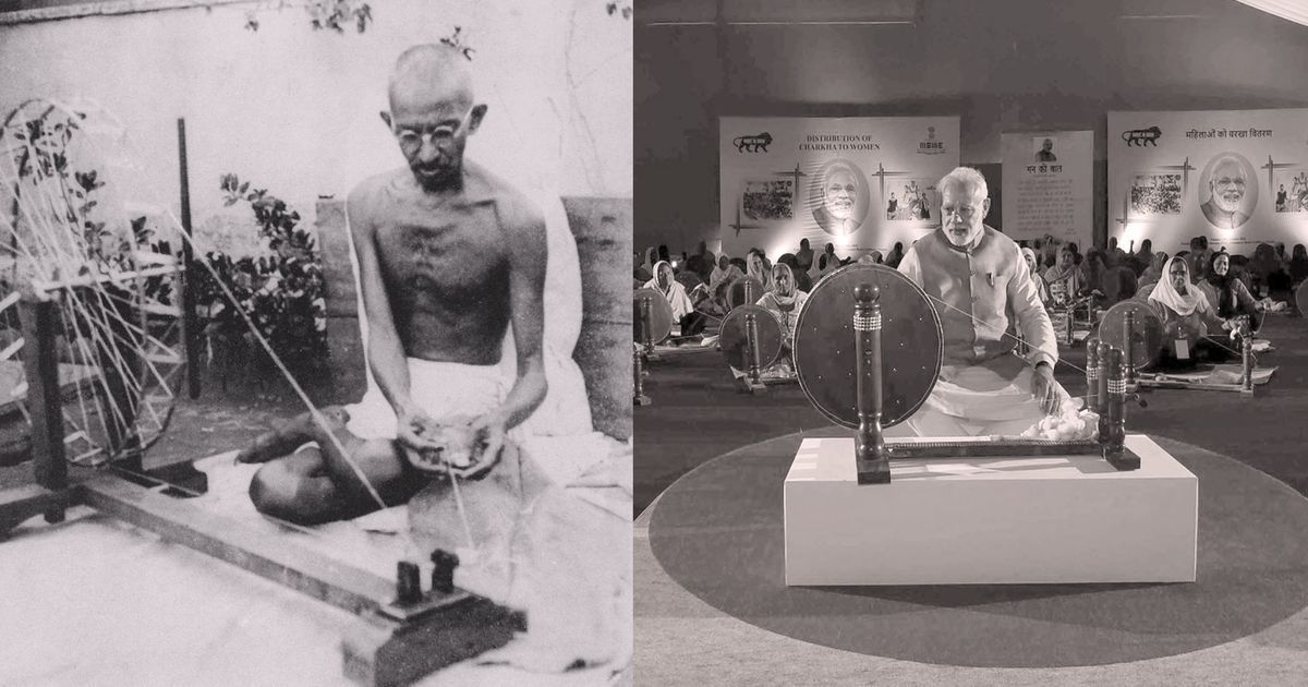 Why the switching of Gandhi with Modi as India's khadi icon is more than just symbolic