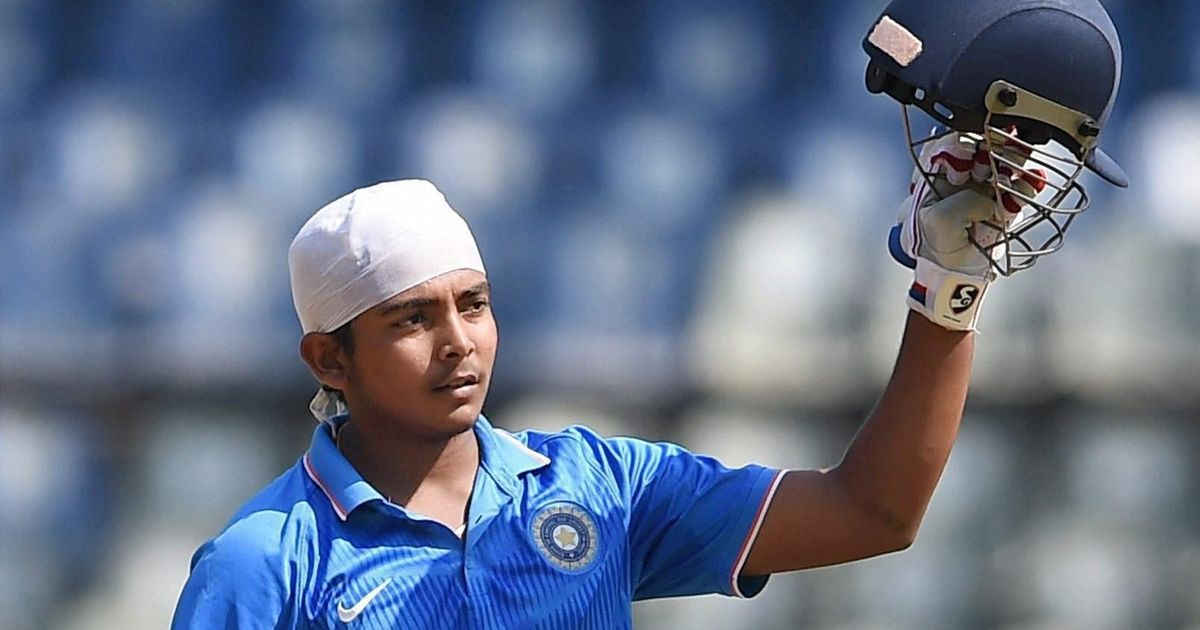 Prithvi Shaw named India captain for 2018 U-19 World Cup