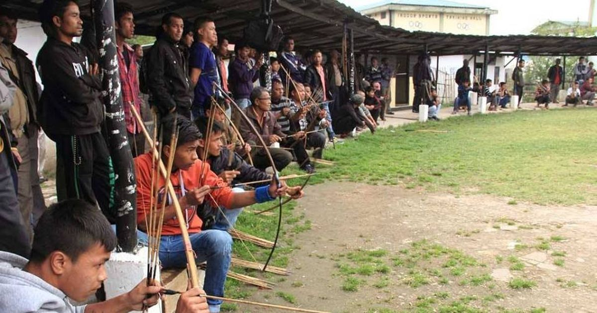 In Shillong, capital of Meghalaya, locals and tribal archers