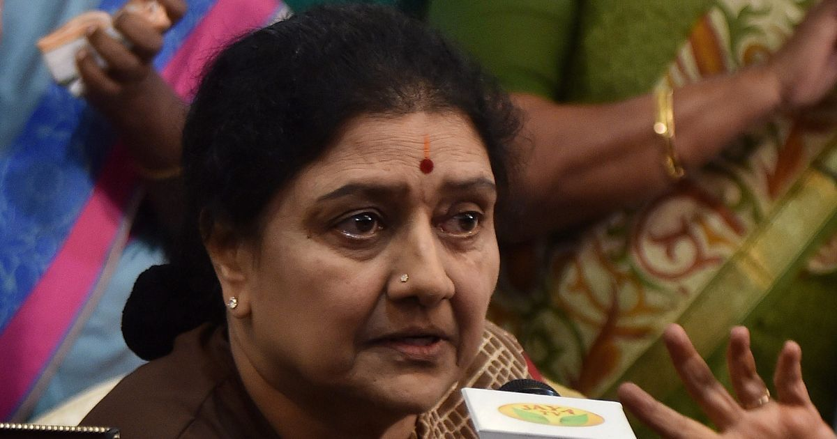 Image result for Sasikala holds meeting with AIADMK