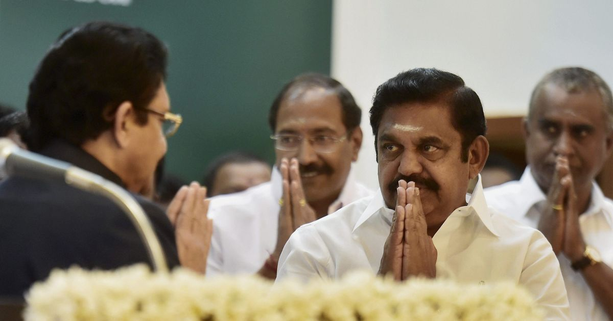 Pandemonium in Tamil Nadu assembly as CM seeks confidence vote