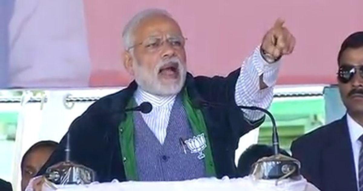 कांग्रेस ने मणिपुर में केवल भ्रष्टाचार और जनजातियों को लड़ाने का काम किया है : नरेंद्र मोदी