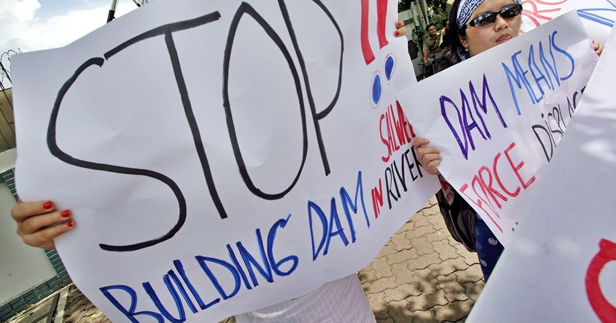 In Myanmar, government efforts to push large dam projects have met with a flood of resistance