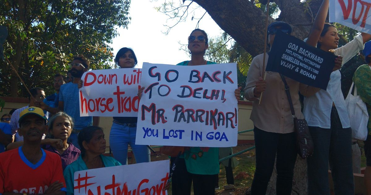 Manohar Parrikar is #NotMyCM: Goans protest as BJP ministers take oath
