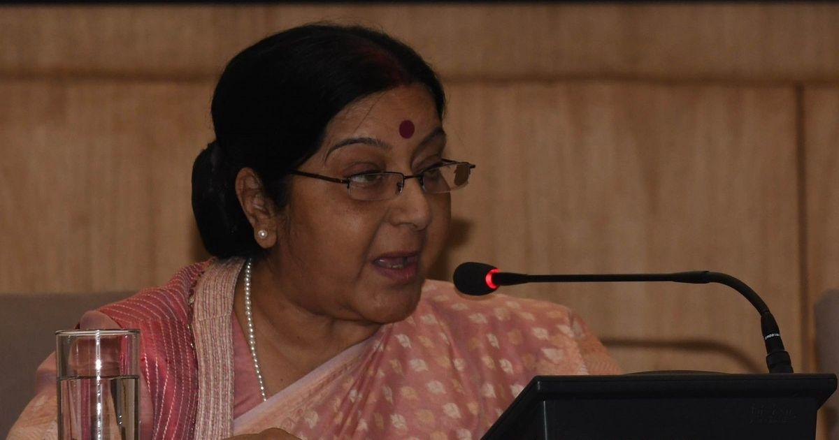 पाकिस्तान ने जाधव से मां और पत्नी की मुलाकात को प्रोपेगैंडा का हथियार बना दिया : सुषमा स्वराज