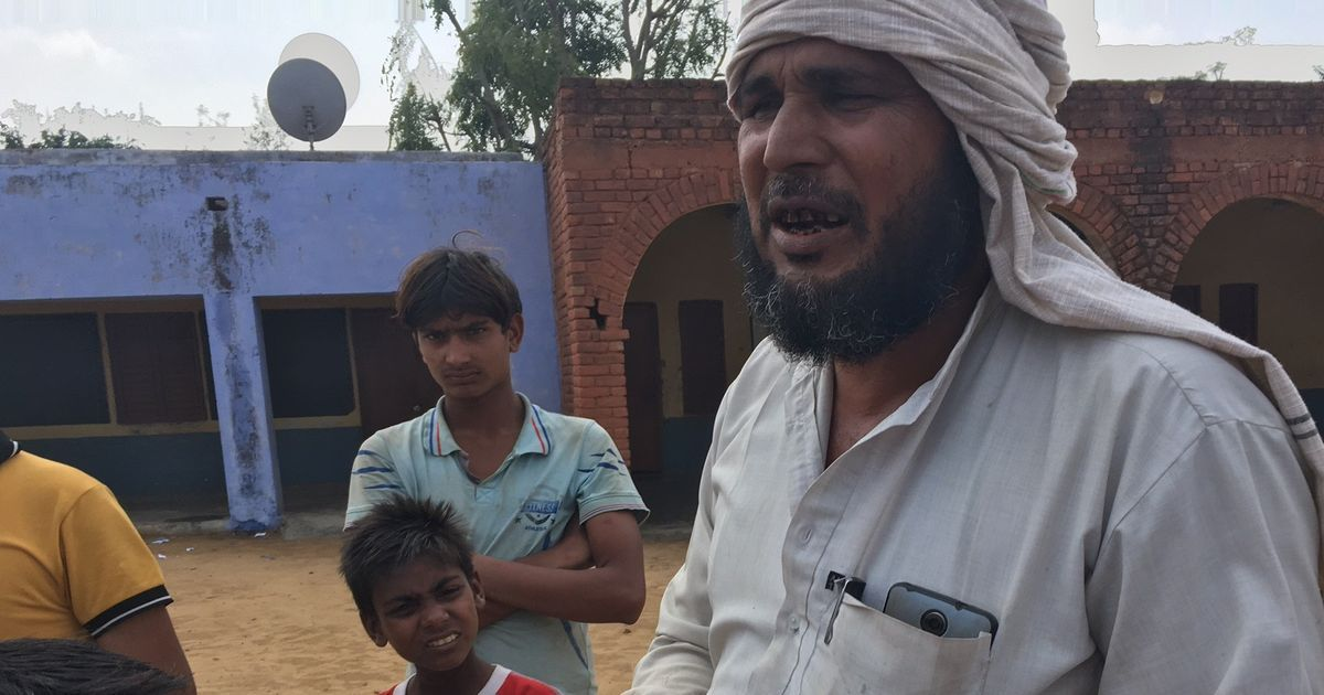 Mewat fathers are standing guard outside schools after rumours about injections causing sterility
