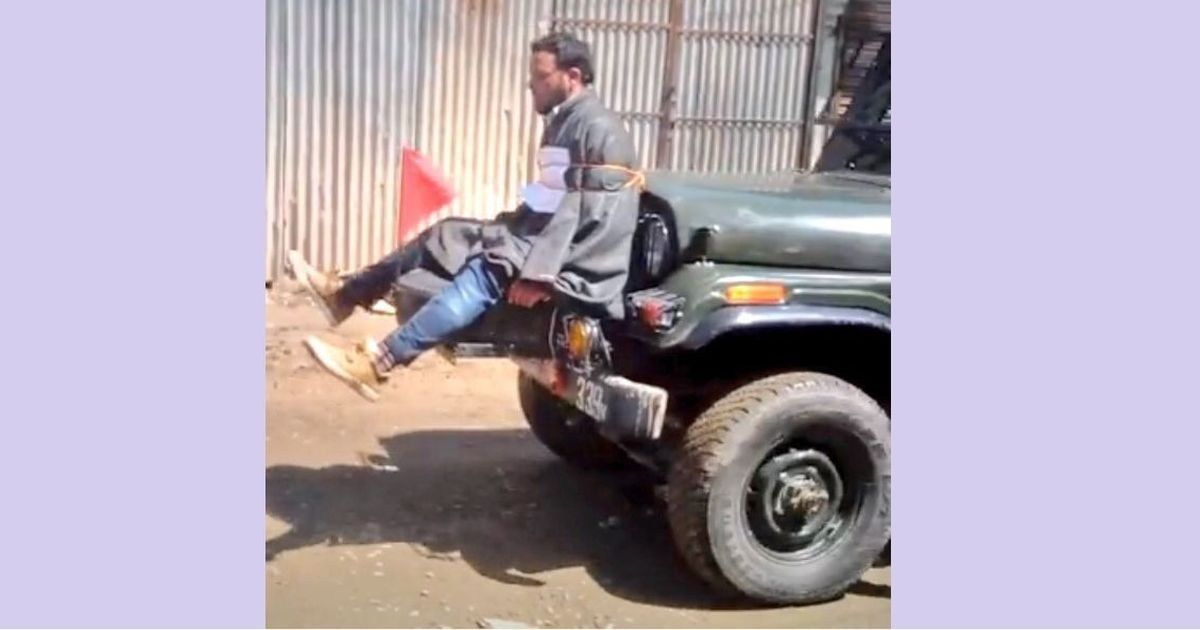 Kashmir viral video: How a man headed to a death ritual found himself strapped to an army vehicle