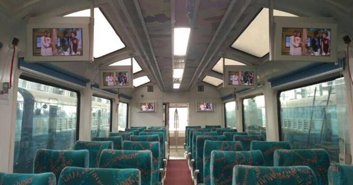 Indian Railways launches train with a glass ceiling!