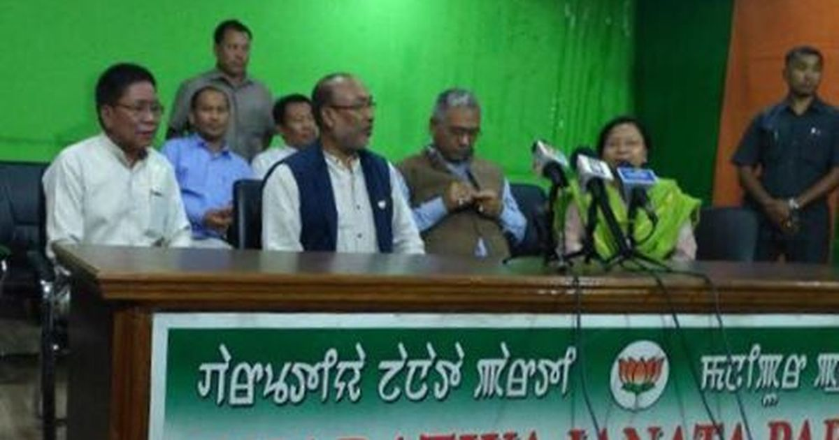 Congress MLA, 14 councillors join BJP in Manipur