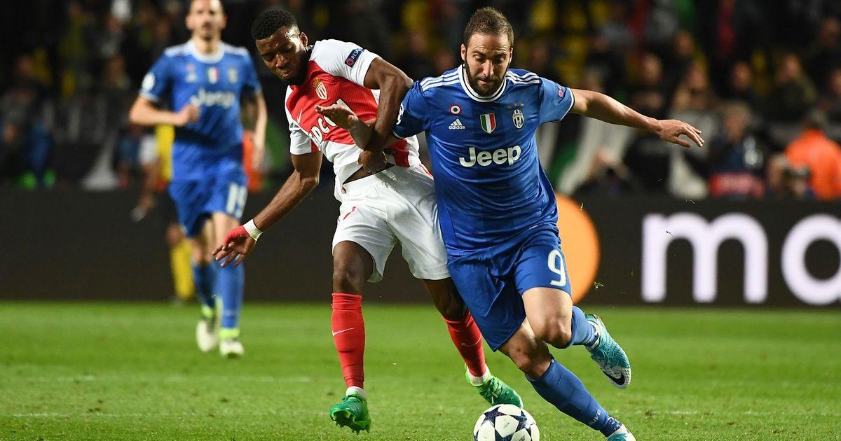 Gonzalo Higuain powers Juventus to a 2-0 win over Monaco in Champions League semis