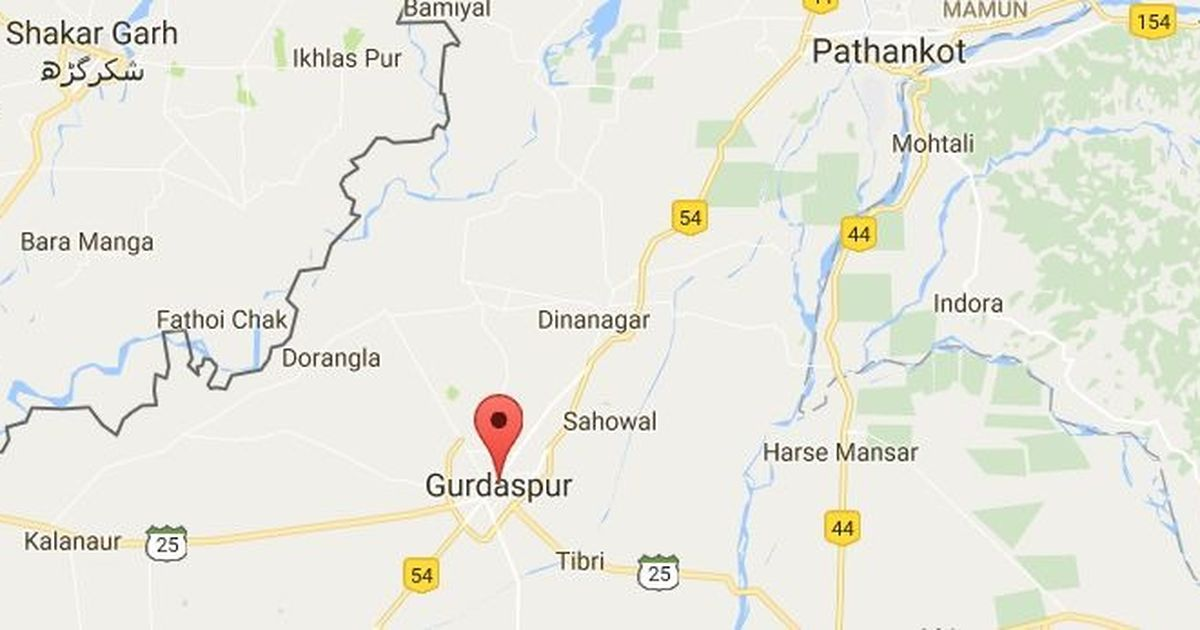 High Alert In Gurdaspur And Pathankot After Men Driving A Stolen - Border checkpost us map