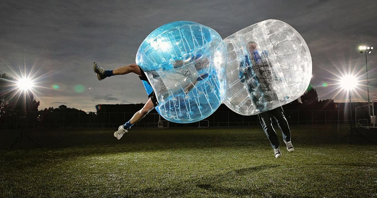 Video: Bubble football is insane fun, whether you're watching or playing