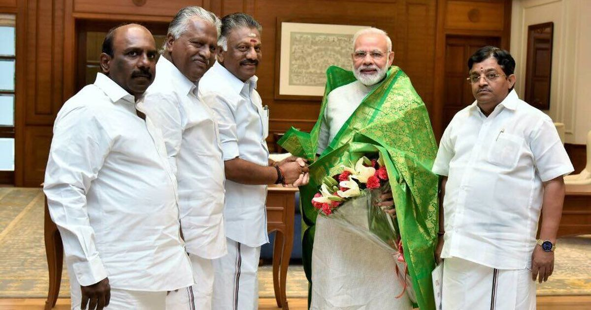 Paneerselvam meets Modi, discusses Tamil Nadu
