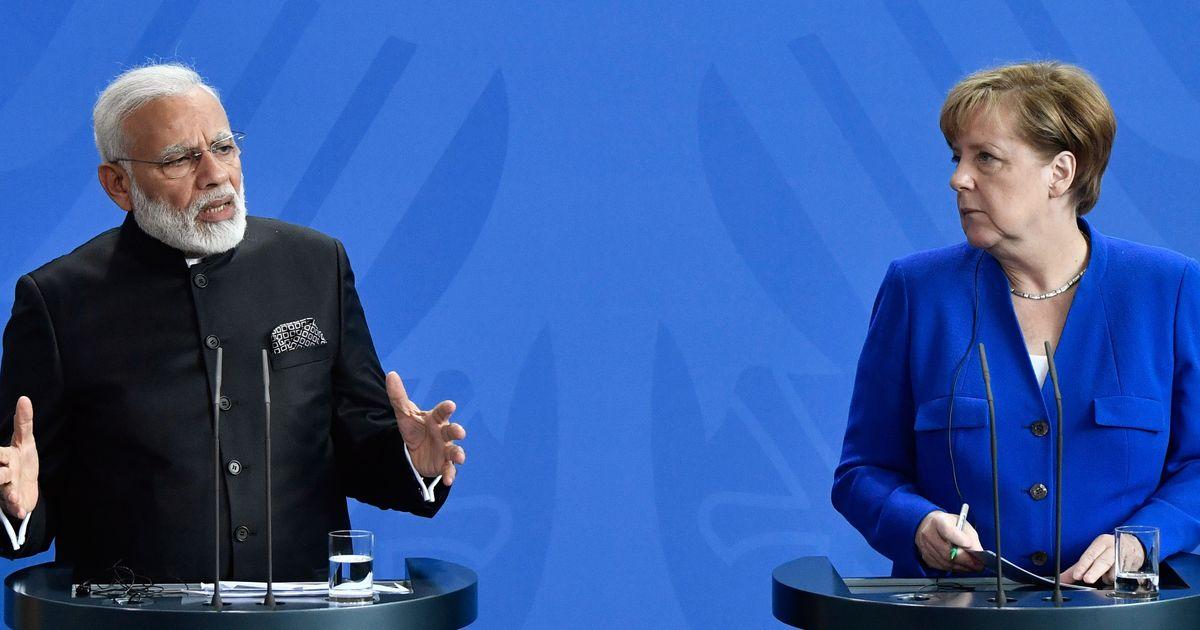 Indian PM praises Merkel's 'vision', urges climate action