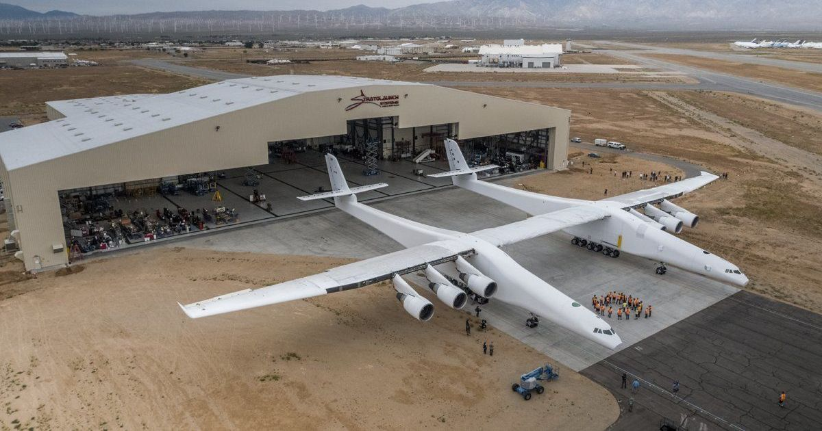 World's Largest (and Oddest-Looking) Aircraft Rolled Out for Tests