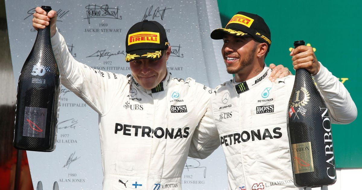 The greatest partnership that probably existed in Formula One: Hamilton on Mercedes teammate Bottas