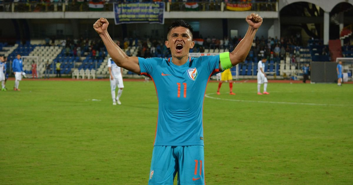 Sunil Chhetri's strike leads India to dramatic 1-0 win over Kyrgyzstan in Asian Cup Qualifiers