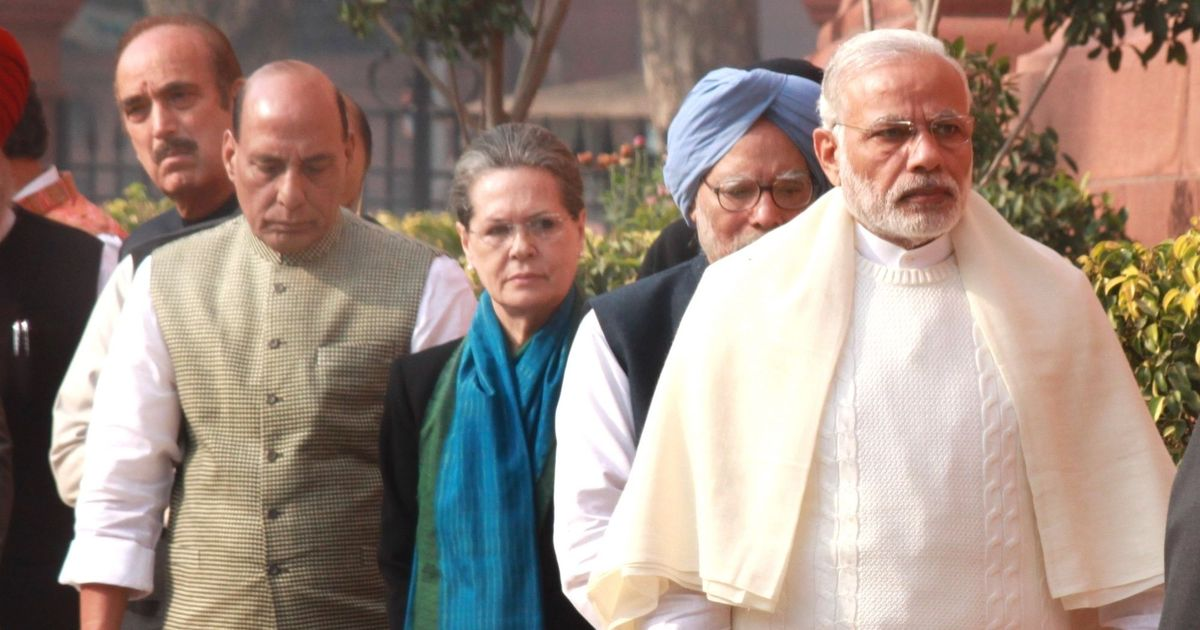Rajnath Singh, Venkaiah Naidu meet Sonia Gandhi and Yechury on Presidential elections